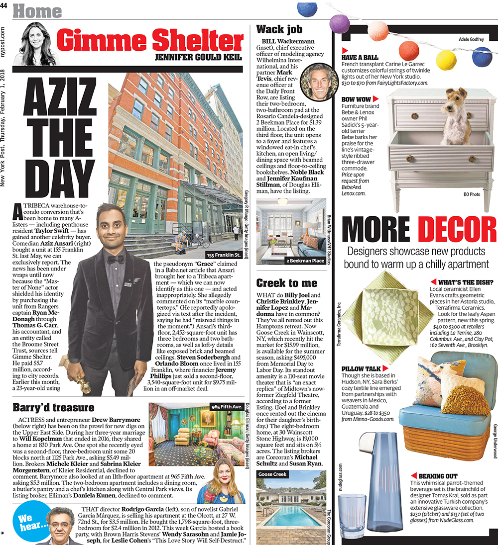 NEW YORK POST featuring bebe & lenox